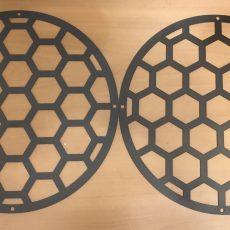 Сетка защитная 250 мм, сталь 1.5 мм цвет чёрный