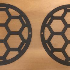 Сетка защитная 165 мм, сталь 1.5 мм цвет чёрный