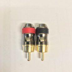 Профессиональный разъем RCA прямой позолота, медь, 1 шт