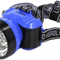 Аккумуляторный налобный фонарь 1 LED-1 вт + 8 LED