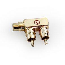 Адаптер-переходник (F-адаптер) RCA («мама») – 2 x RCA («папа») URAL (Урал) ADAPTER02M